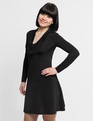 2572 платье черное