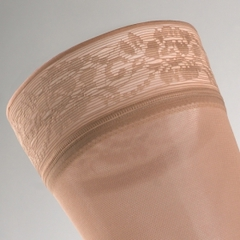 Чулки с кружевной резинкой на широкое бедро mediven comfort