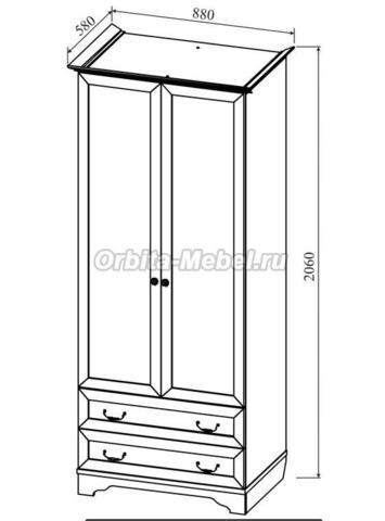 Шкаф 2-створчатый Классика