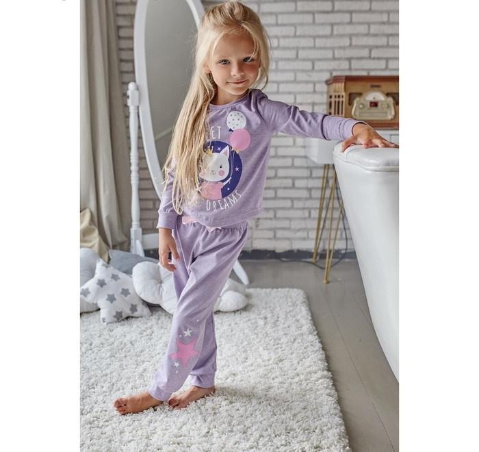 Пижама для девочки (брюки и джемпер)