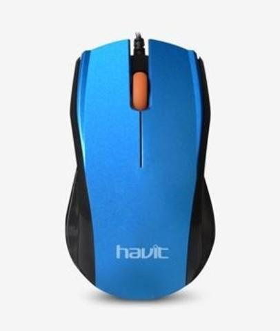 Мышь проводная HAVIT HV-MS689 USB blue