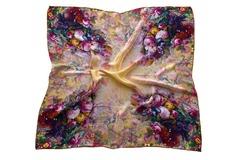 Итальянский платок из шелка цветы 5352