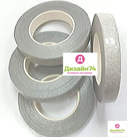 Тейп лента серебро