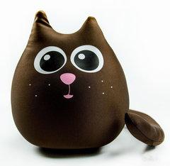 Подушка-игрушка антистресс «Кот шоколадный большой» 1