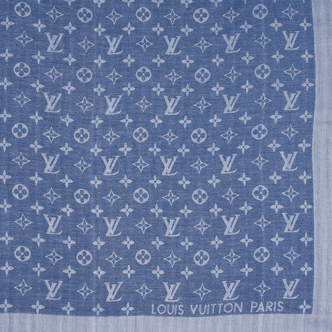 Шаль Monogram Blue-Grey