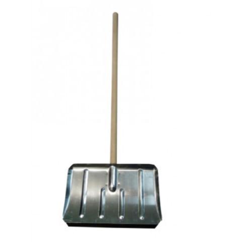Лопата для уборки снега ковш алюминиевый (50x30 см) с черенком