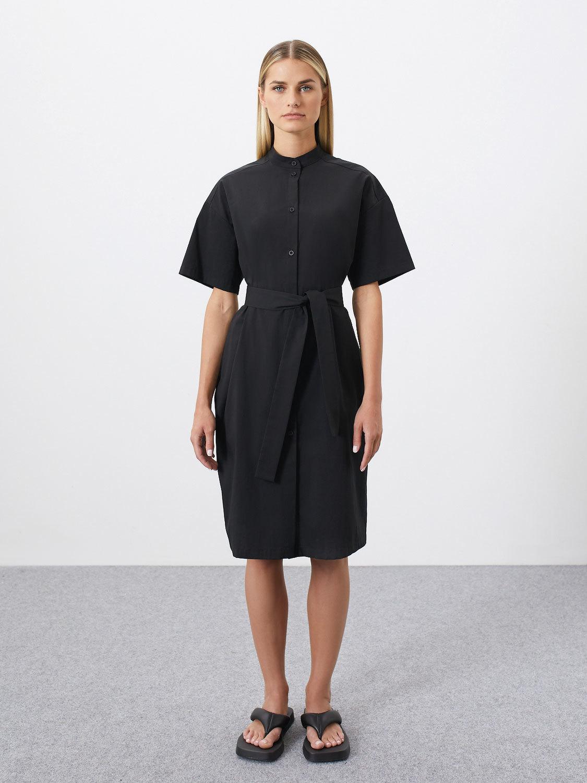 Платье-рубашка Kris со стойкой, Черный