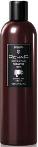Оттеночный шампунь для платиновых оттенков блонд c кератином, Richair Egomania,400 мл.