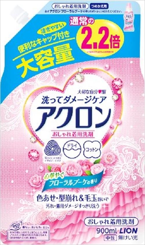 Жидкость для стирки деликатных тканей, Lion, Acron, цветы, сменный блок, 900 мл