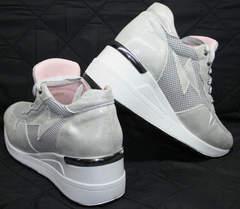 Летние женские кроссовки Topas 4C-8045 Silver.