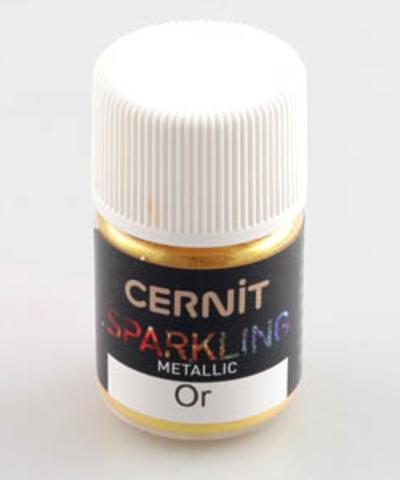 Блестящая пудра (блестки) CERNIT, золотой металлик