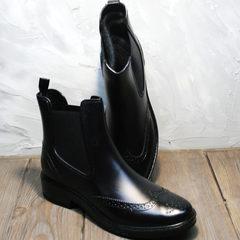 Резиновые ботинки женские W9072Black