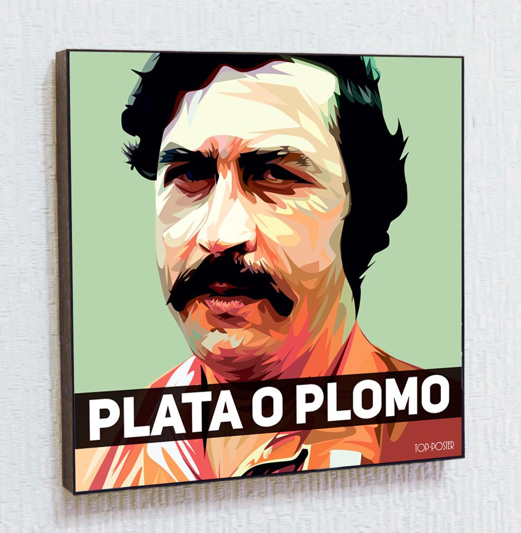 постер Пабло Эскобар Картина ПОП-АРТ