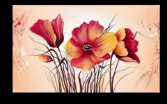 """Постер """"Красные цветы"""""""