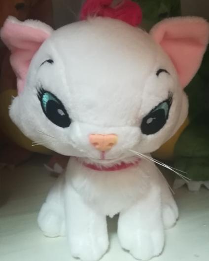 Мягкая игрушка белая кошечка 30 СМ