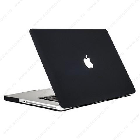 Накладка пластиковая для Macbook Air 13 2013 глянцевая черный