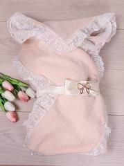 Конверт-одеяло Вязка розовый