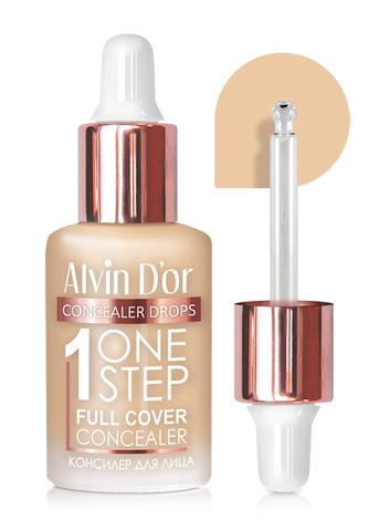 Alvin D`or CFD-1 Консилер для лица  1 ONE STEP drops 8мл (тон 01 слоновая кость)