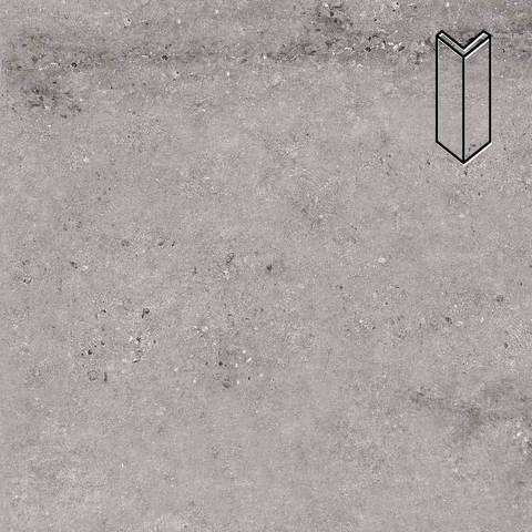 Stroeher - Gravel Blend 962 grey 157х60х60x11 артикул 9000/9010 - Угловой клинкерный подступенок