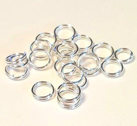Кольцо двойное 4 мм серебро цена за 12 шт