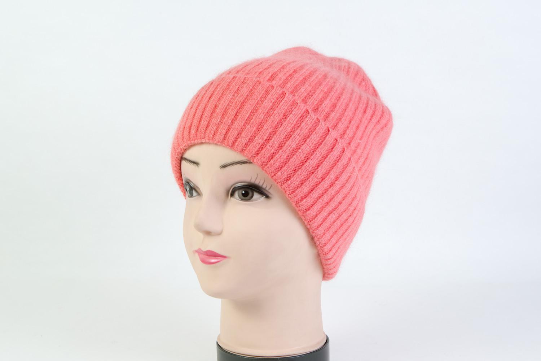 Женская шапка персиковая SH H9184A
