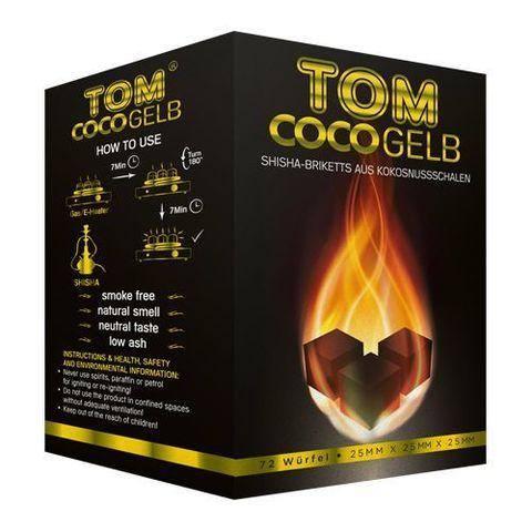 Уголь кокосовый Tom Cococha Gelb Yellow 1кг в индивидуальной упаковке