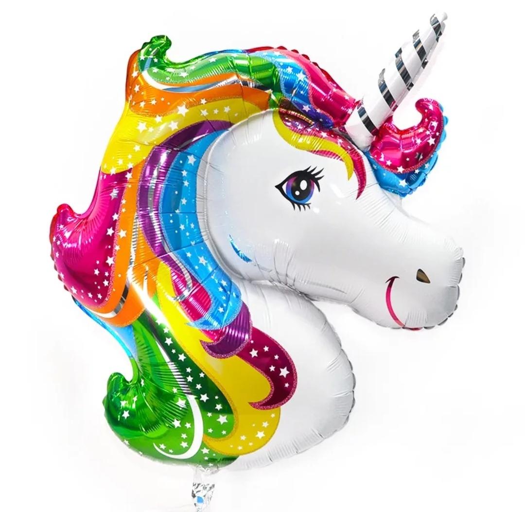 Фольгированные шары фигуры Фольгированный шар голова Единорога IMG_20181009_133449.jpg