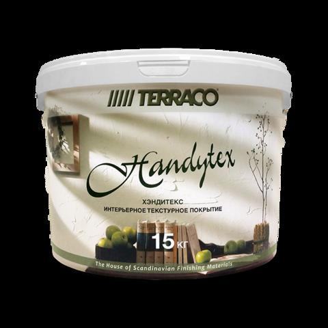 Terraco Handytex Superwhite /Террако Хэндитекс Супервайт готовая смешанная акриловая текстурная мастика для формирования   разнообразных   текстур поверхности на стенах и потолках внутри помещений
