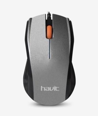 Мышь проводная HAVIT HV-MS689 USB grey