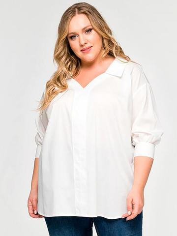 Белая рубашка из штапеля
