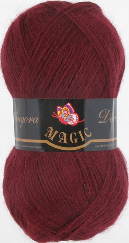 Пряжа Angora Delicate Magic 1124 Бордовый - купить в интернет-магазине недорого klubokshop.ru