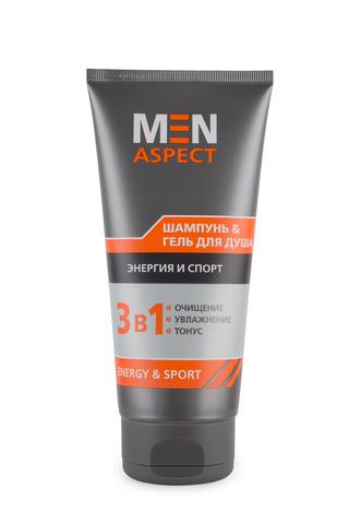 Modum Men Aspect Шампунь & Гель для душа Энергия и Спорт 200г