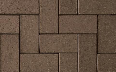 ABC Schwarz braun, 200x100x52 - Тротуарная клинкерная брусчатка