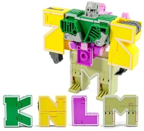 Робот-рейнджер: трансботы Lingvo Zoo 1 Toy (буквы английские K L M N)