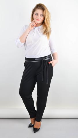 Яна. Офисные брюки большого размера. Черный.