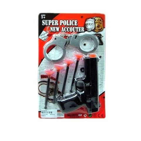 Полицейский набор NewAccouter с пистол.присосками и наручниками на карт., 1кор*1бл*6шт