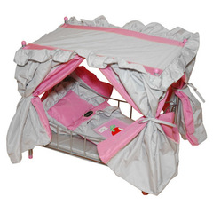 Gulliver Кроватка с балдахином для куклы (розово-серебристая с яблочком ) со светящимся логотипом (568-2)