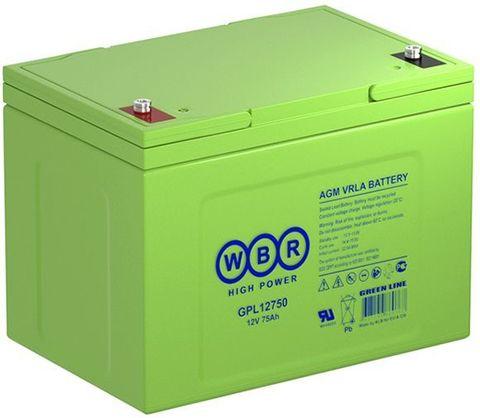 Аккумулятор глубокого разряда WBR  75А/ч  12В