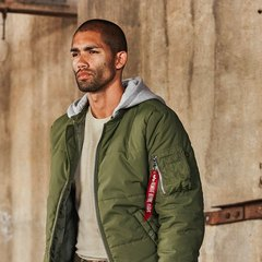 бомбер Alpha Industries MA-1 Natus Quilted Sage Green