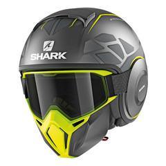 Мотошлем с маской Shark Street Drak Hurok, чёрный/жёлтый
