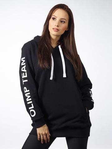 Женская толстовка с капюшоном  OLIMP OVERSIZE BLACK