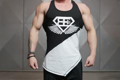 Мужская майка-боксерка Body Engineers XA1 – Contrast Black top