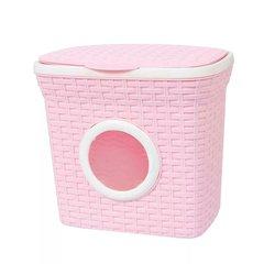 контейнер для стирального порошка 15х16х18 см, розовый