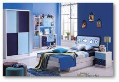 Кровать детская Бамбино (Bambino MK-4600-BL) Синий-белый