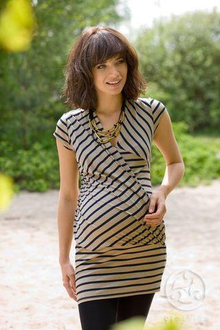 Блузка для беременных и кормящих 01143 бежевый