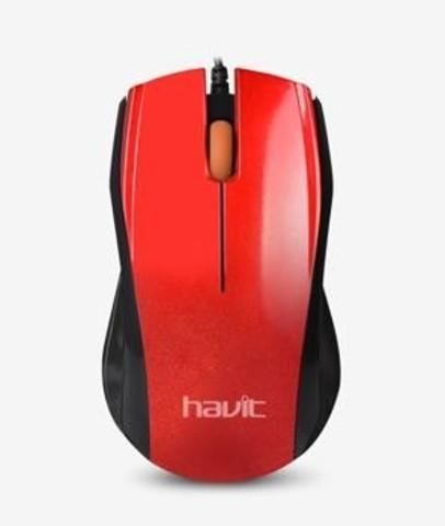 Мышь проводная HAVIT HV-MS689 USB red