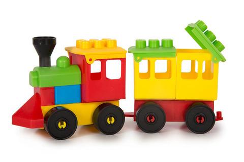 4-566 Паровозик Комби Блок с вагончиком