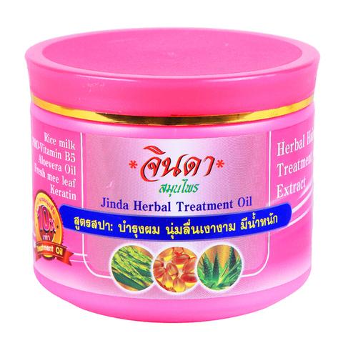 Восстанавливающая маска для роста волос Jinda 400 мл Jinda herbal treatment oil (pink pack)