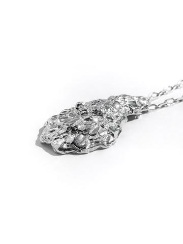 Серебряное колье-устрица