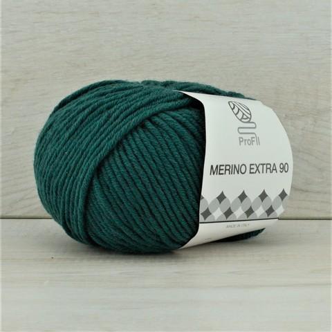 Пряжа Merino Extra 90 (Мерино экстра 90) Темно-зеленый